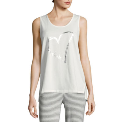 Ambrielle Womens Jersey Pajama Top Scoop Neck