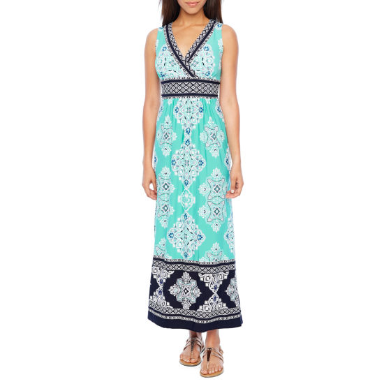 Studio 1 Sleeveless Paisley Maxi Dress