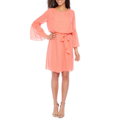 Emma And Michele 3/4 Sleeve Blouson Dress