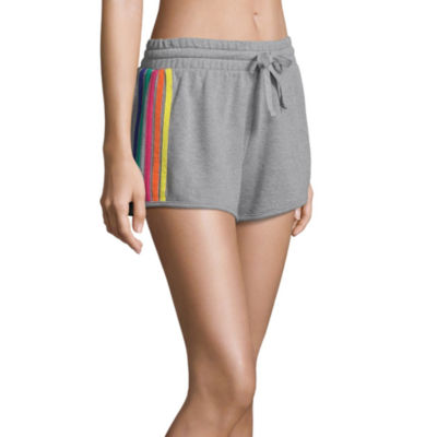 Flirtitude French Terry Pull-On Shorts-Juniors