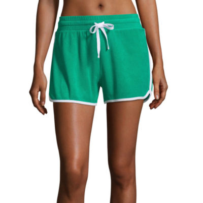 Flirtitude Terry Cloth Pull-On Shorts-Juniors