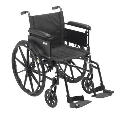 Drive Medical Cruiser X4 Lightweight Dual Axle Wheelchair with Adjustable Detachable Arms
