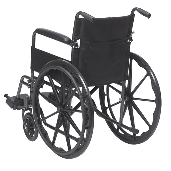 Drive Medical Silver Sport 1 Wheelchair with FullArms and Swing away Removable Footrest