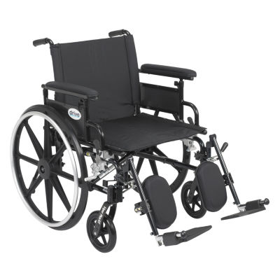 """Drive Medical Viper Plus GT Wheelchair with Flip Back Removable Adjustable Full Arms  Elevating LegRests  22"""" Seat"""