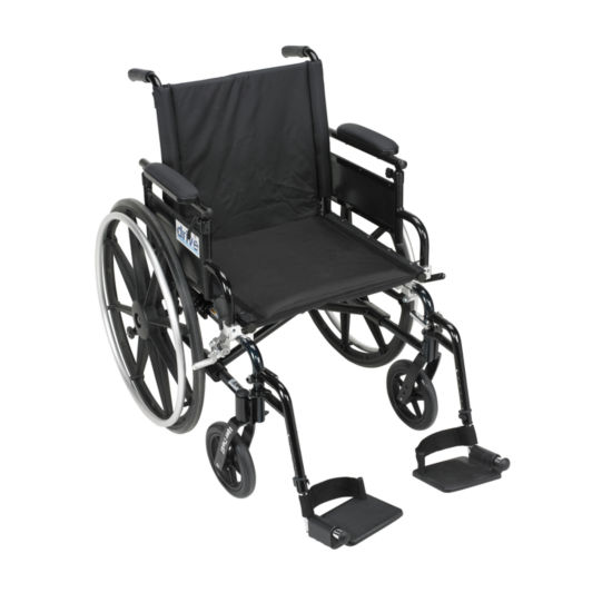 Drive Medical Viper Plus GT Wheelchair with Flip Back Removable Adjustable Desk Arms