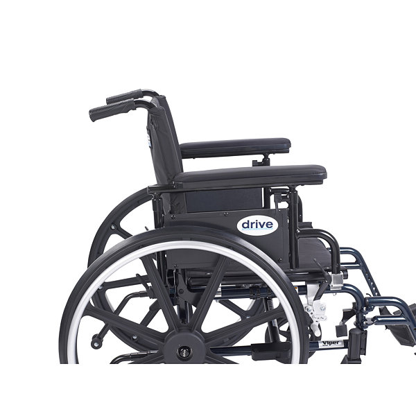 Drive Medical Viper Plus GT Wheelchair with Flip Back Removable Adjustable Full Arms
