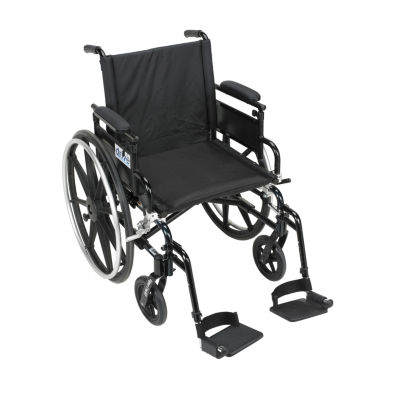 """Drive Medical Viper Plus GT Wheelchair with Flip Back Removable Adjustable Desk Arms  Swing away Footrests  16"""" Seat"""
