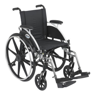 Drive Medical Viper Wheel Chair with Flip Back Removable Arms