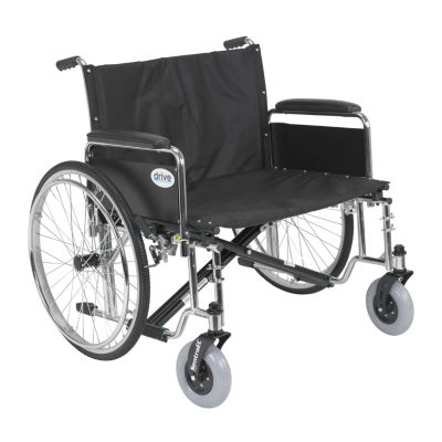 """Drive Medical Sentra EC Heavy Duty Extra Wide Wheelchair  Detachable Full Arms  28"""" Seat"""