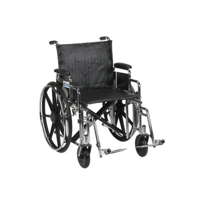 """Drive Medical Sentra Extra Heavy Duty WheelchairDetachable Desk Arms  Swing away Footrests  20"""" Seat"""