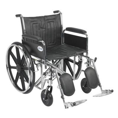 Drive Medical Sentra EC Heavy Duty Wheelchair, Detachable Full Arms, Elevating Leg Rests