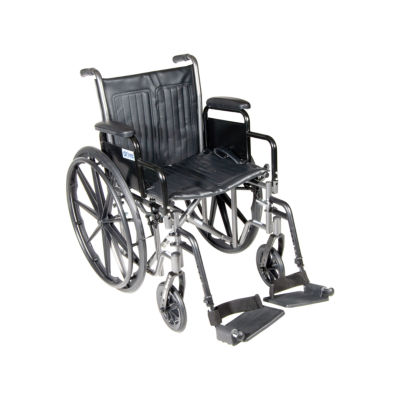 Drive Medical Silver Sport 2 Wheelchair, Detachable Desk Arms