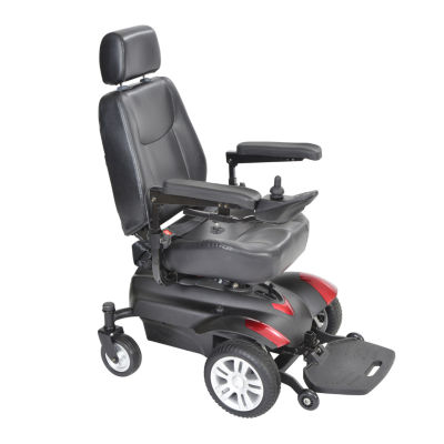 """Drive Medical Titan Transportable Front Wheel Power Wheelchair  Vented Captain's Seat  18"""" x 18"""