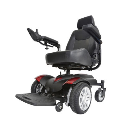 "Drive Medical Titan Transportable Front Wheel Power Wheelchair  Full Back Captain's Seat  20"" x 20"