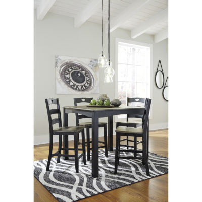 Signature Design By Ashley® Froshburg 5 Piece Square Counter Height Dining  Set