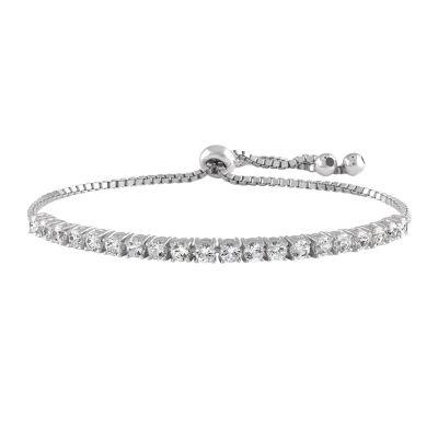 Lab Created White Sapphire Bolo Bracelet