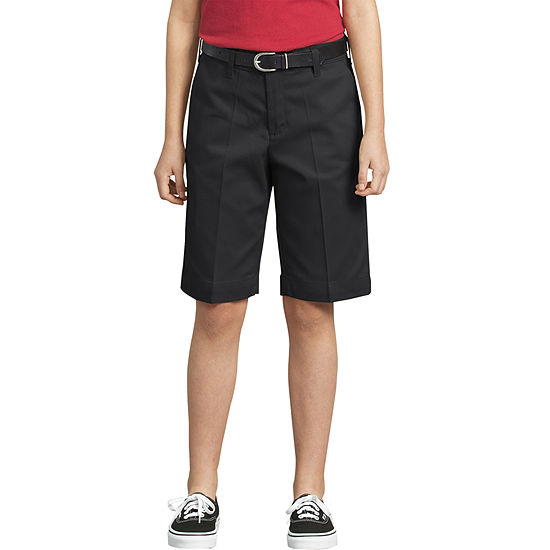 Dickies Little Girls Mid Rise Stretch Bermuda Short