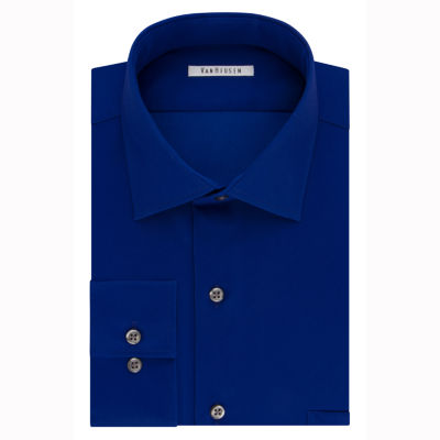 Van Heusen Flex Cool Collar Big And Tall Long Sleeve Sateen Dress Shirt