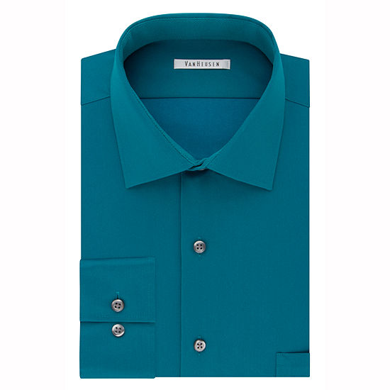 Van Heusen Flex Cool Collar Big And Tall Mens Spread Collar Long Sleeve Wrinkle Free Dress Shirt