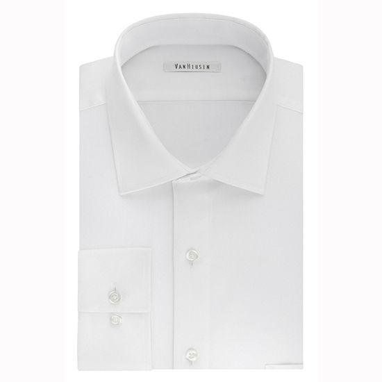 Van Heusen Flex Cool Collar Big And Tall Mens Spread Collar Long Sleeve Wrinkle Free Stretch Dress Shirt