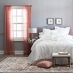 JCPenney Home Tori Sheer Sheer Rod-Pocket Single Curtain Panel