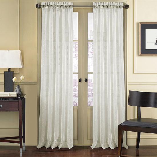Queen Street Remy Sheer Rod-Pocket Curtain Panel
