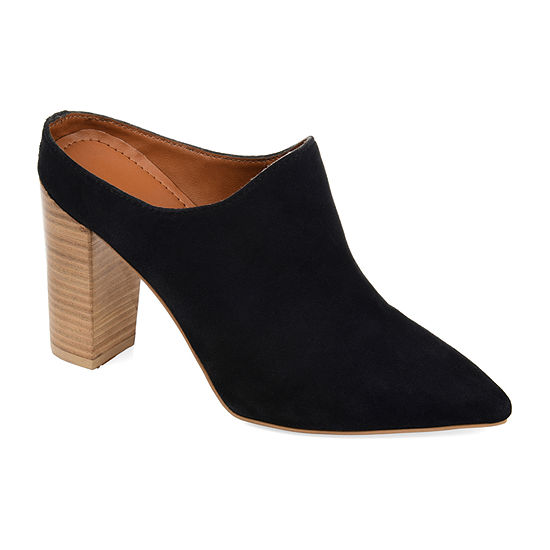 Journee Signature Womens Miller Mules Pointed Toe