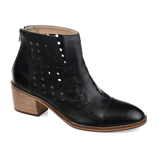 Journee Signature Womens Ulima Booties Stacked Heel