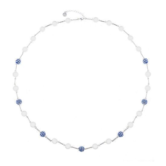Liz Claiborne Malibu Pearl Womens Round Strand Necklace
