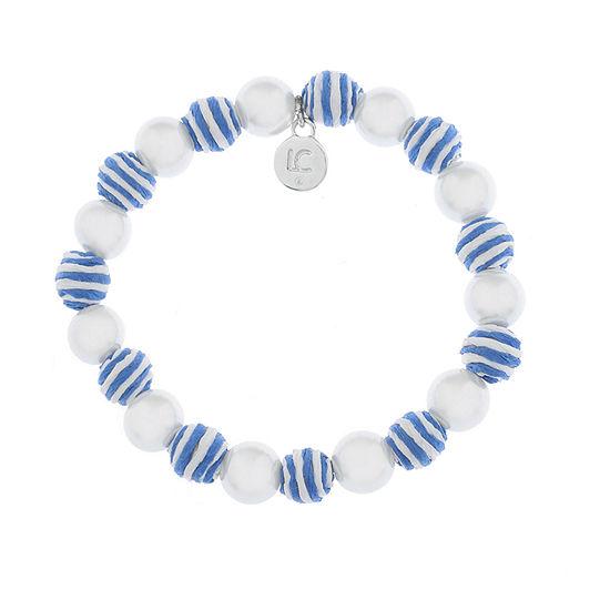 Liz Claiborne Malibu Pearl Round Stretch Bracelet