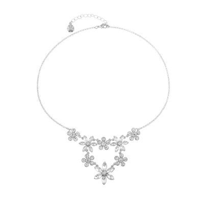 Monet Jewelry Bridal Womens Flower Collar Necklace