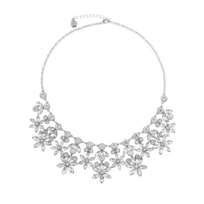 Monet Jewelry Bridal Womens Flower Statement Necklace