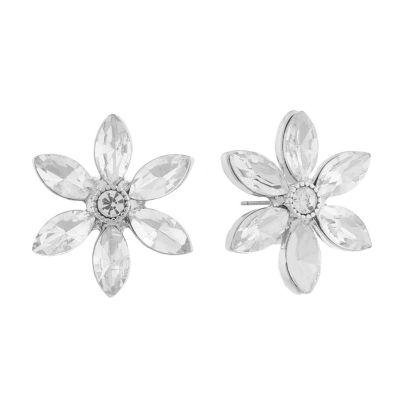 Monet Jewelry Bridal 20.5mm Flower Stud Earrings