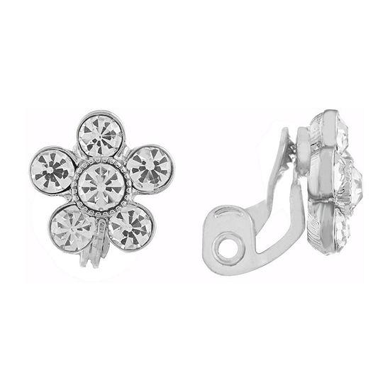 Monet Jewelry Bridal Flower Clip On Earrings