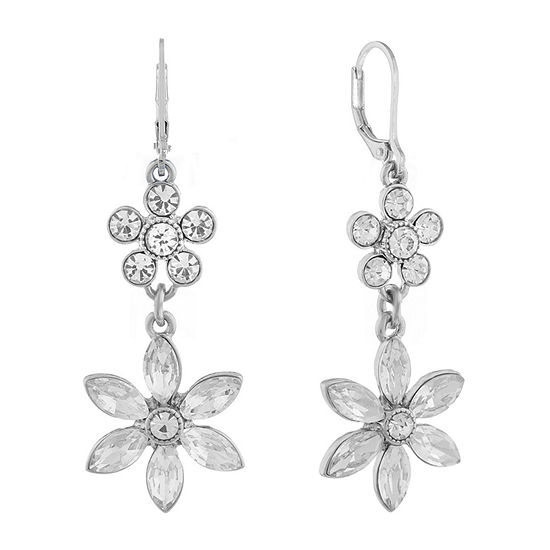 Monet Jewelry Bridal Flower Drop Earrings