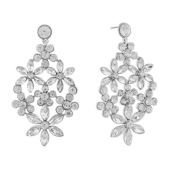 Monet Jewelry Bridal Flower Chandelier Earrings