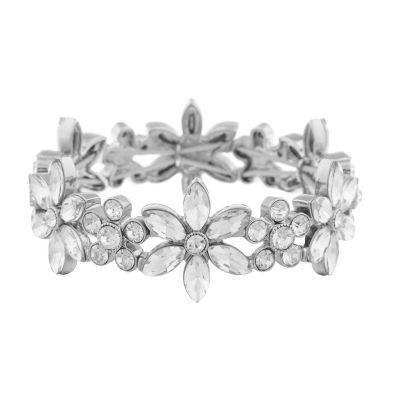 Monet Jewelry Bridal Flower Stretch Bracelet