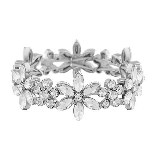 Monet Jewelry Bridal Flower Stretch Bracelet