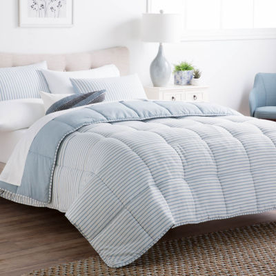 Brookside Striped Chambray Down Alternative Comforter Set - Includes 2 Pillow Shams