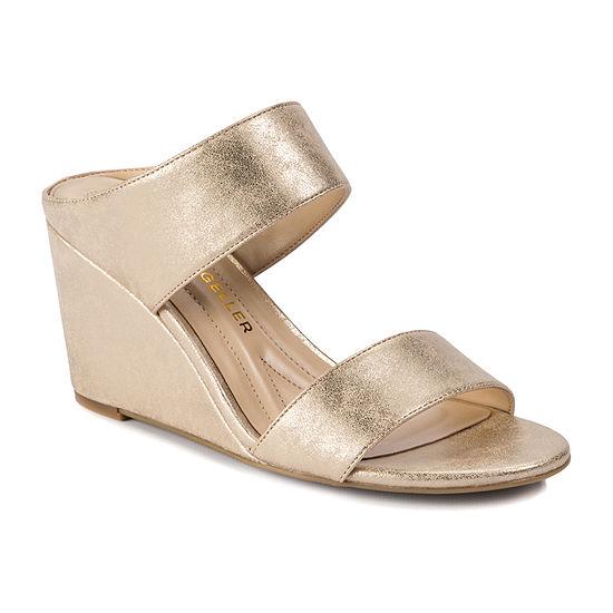 Andrew Geller Womens Barbara Wedge Sandals