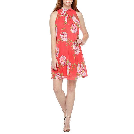 Robbie Bee Sleeveless Floral Swing Dresses
