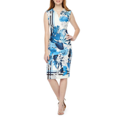 Nicole Miller Sleeveless Floral Sheath Dress
