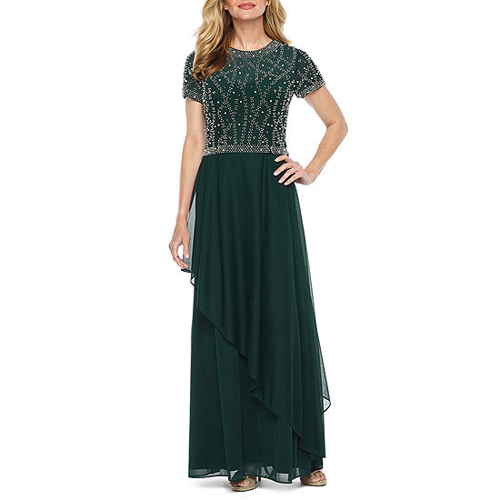 31426ebe3 Jackie Jon Short Sleeve Beaded Evening Gown - JCPenney