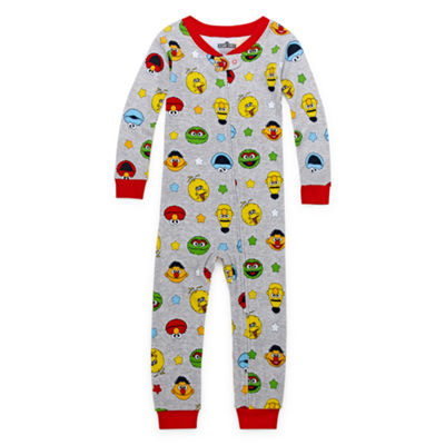 Sesame Elmo Boys One Piece Pajama Sesame Street Long Sleeve