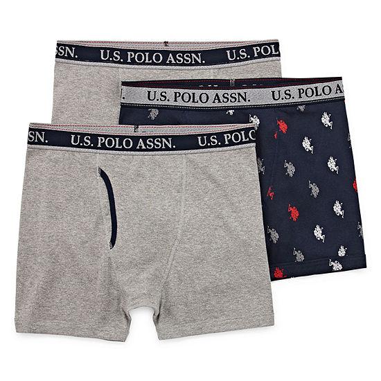 U.S. Polo Assn. 3 Pair Boxer Briefs