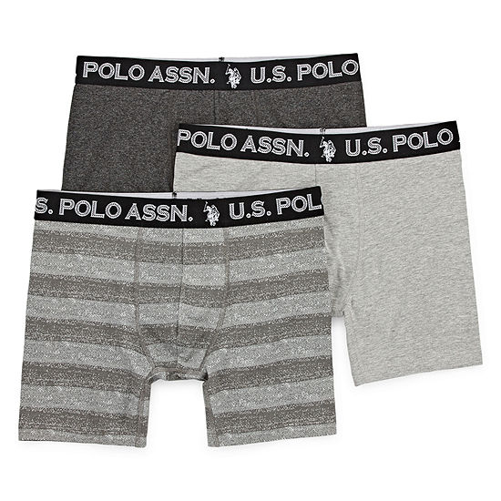 Us Polo Assn 3 Pair Boxer Briefs