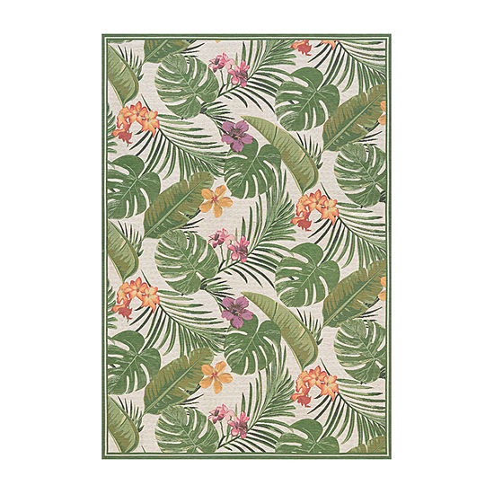 Couristan Flowering Fern Rectangular Indoor/Outdoor Rugs