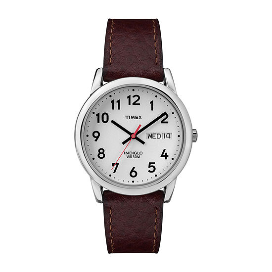 Timex Mens Brown Leather Strap Watch-T200419j