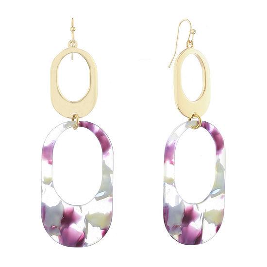 Liz Claiborne Color Resin Drop Earrings