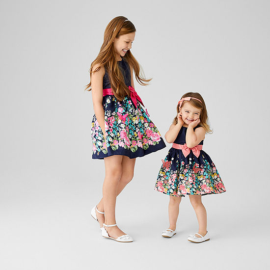 Sister Me Lilt Sleeveless Navy Floral Party Dress